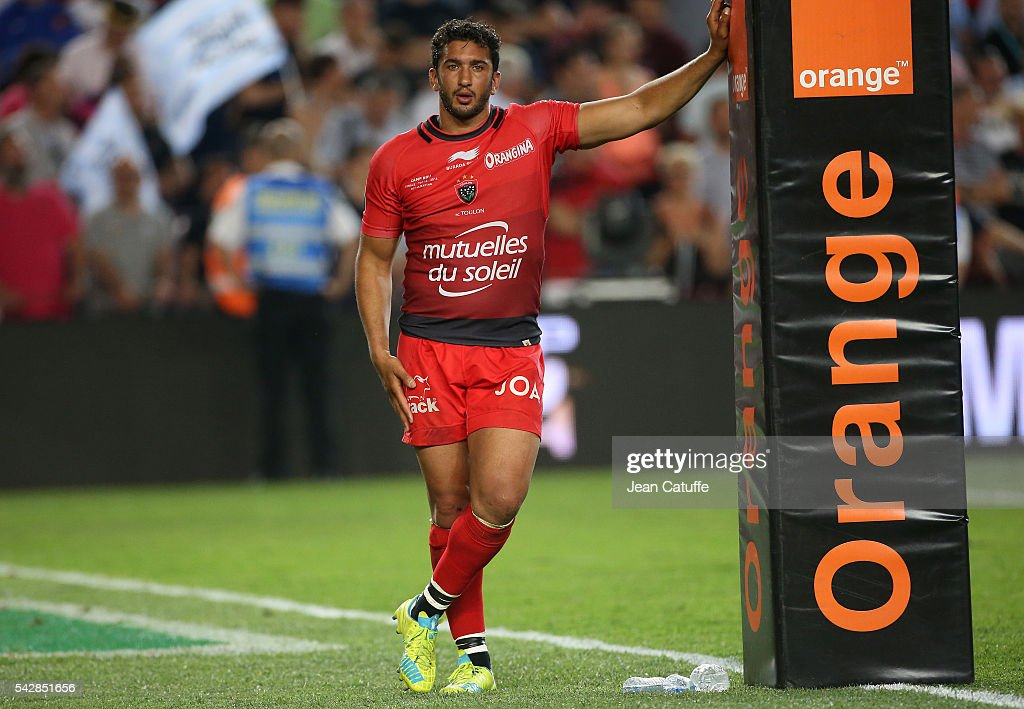 <a gi-track='captionPersonalityLinkClicked' href=/galleries/search?phrase=Maxime+Mermoz&family=editorial&specificpeople=561871 ng-click='$event.stopPropagation()'>Maxime Mermoz</a> of RC Toulon looks dejected following the Final Top 14 between Toulon and Racing 92 at Camp Nou on June 24, 2016 in Barcelona, Spain.