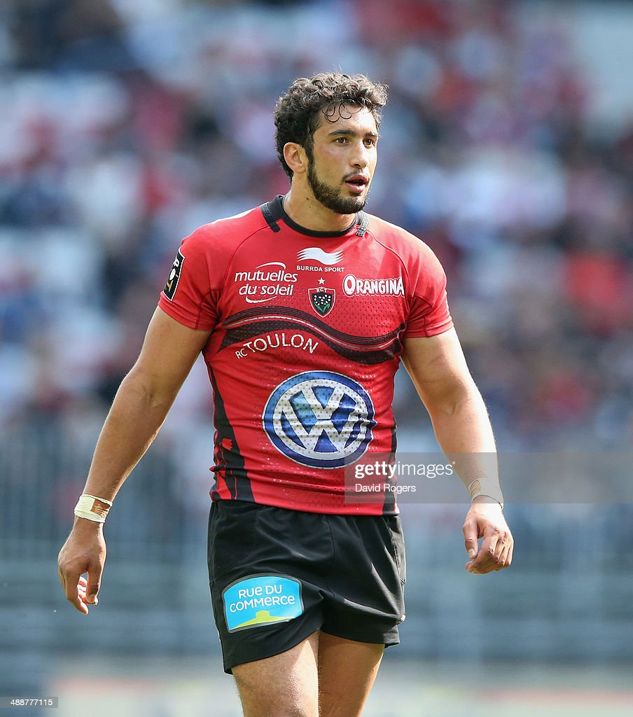 Maxime Mermoz of Toulon looks on during the Top 14 match between Toulon and Stade Francais at the Allianz Riviera Stadium on May 3, 2014 in Nice, France.