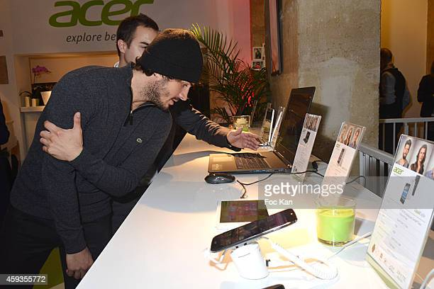 Maxime Musqua attends the Acer Pop Up Store Launch Party at Les Halles on November 20 2014 in Paris France