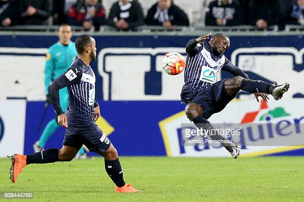 Maxime Poundje for FC Girondins de Bordeaux in action during the French Cup match between FC Girondins de Bordeaux and FC Nantes at Stade Matmut...