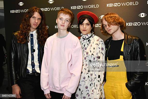 Maxime Sokolinski Ruth Bell SokoÊand Lukas Ionesco attend 'Kenzo World' Kenzo New Perfume Launch and Spike Jonze Clip screening Party as part of...