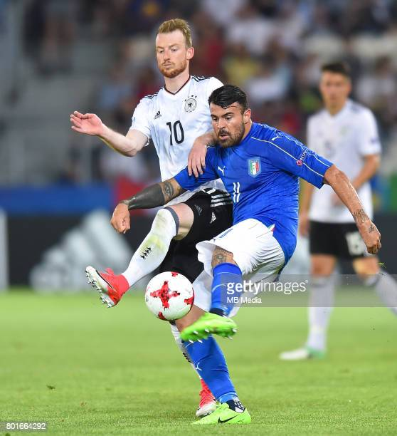 Maximilian Arnold Andrea Petagna during the UEFA European Under21 match between Italy and Germany on June 24 2017 in Krakow Poland
