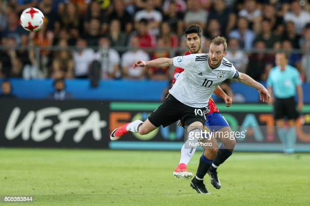 Maximilian Arnold Marco Asensio during the UEFA U21 Final match between Germany and Spain at Krakow Stadium on June 30 2017 in Krakow Poland
