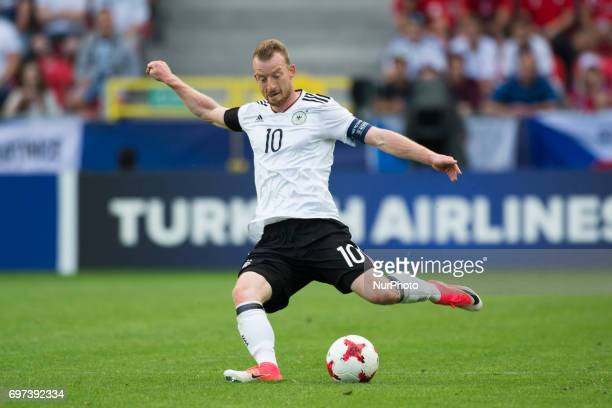 Maximilian Arnold of Germany pictured in action during the UEFA European Under21 Championship 2017 Group C match between Germany and Czech Republic...