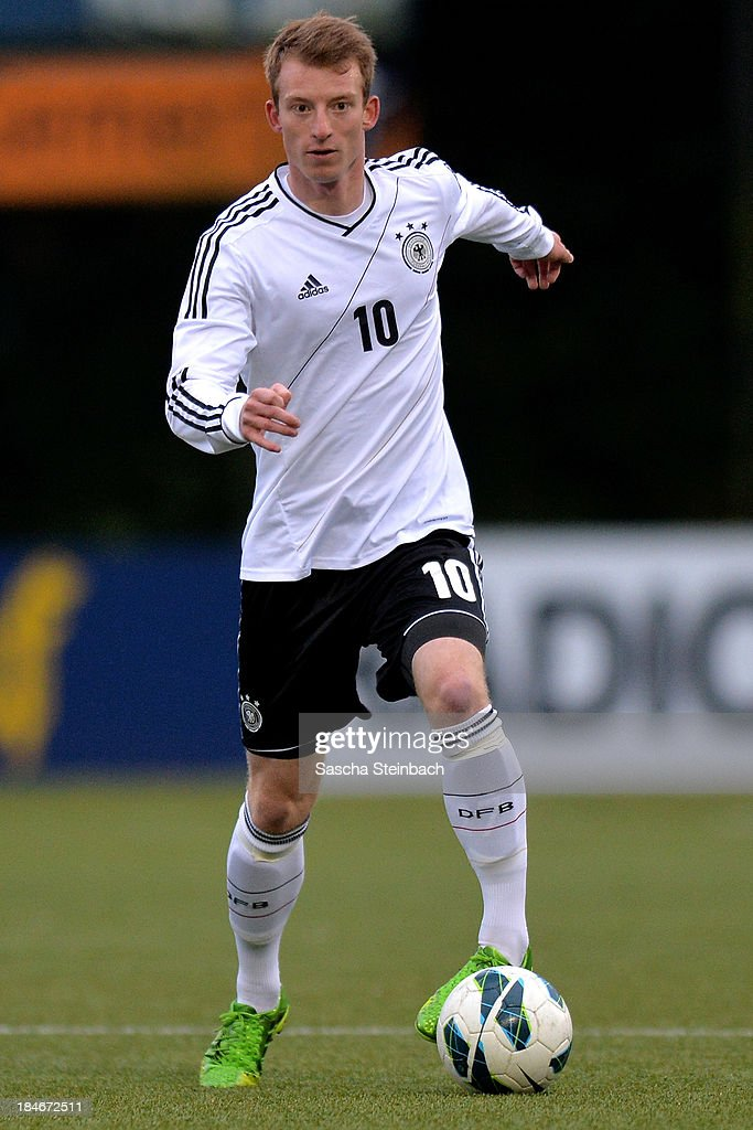 <a gi-track='captionPersonalityLinkClicked' href=/galleries/search?phrase=Maximilian+Arnold&family=editorial&specificpeople=7166144 ng-click='$event.stopPropagation()'>Maximilian Arnold</a> of Germany runs with the ball during the U20 juniors tournament match between the Czech Republic and Germany on October 14, 2013 in Gemert, Netherlands.