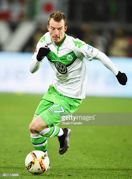 Maximilian Arnold of Wolfsburg in action during the Bundesliga match between VfL Wolfsburg and Hamburger SV at Volkswagen Arena on December 12 2015...