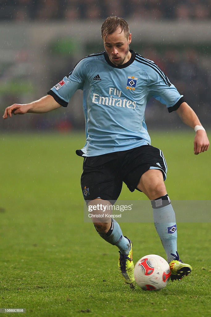 Maximilian Beisterr of Hamburg runs with the ball during the Bundesliga match between Fortuna Duesseldorf and Hamburger SV at Esprit-Arena on November 23, 2012 in Duesseldorf, Germany.