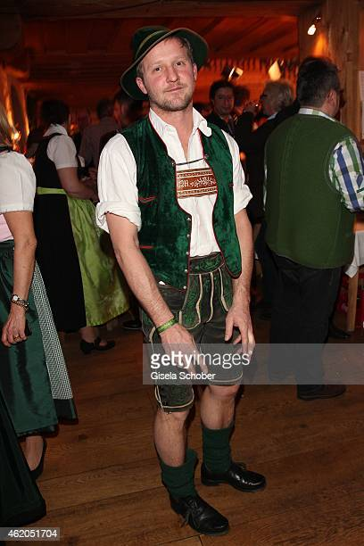 Maximilian Brueckner during the Weisswurstparty at Hotel Stanglwirt on January 23 2015 in Going Austria