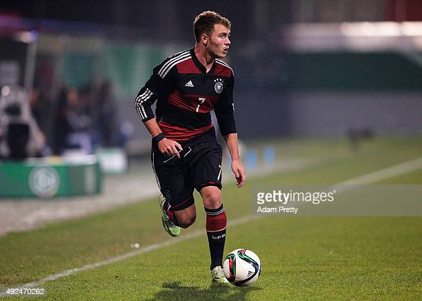 Maximilian Dittgen of Germany in action during the U20 MercedesBenz Elite Cup match between Germany and England at VoithArena on October 13 2015 in...