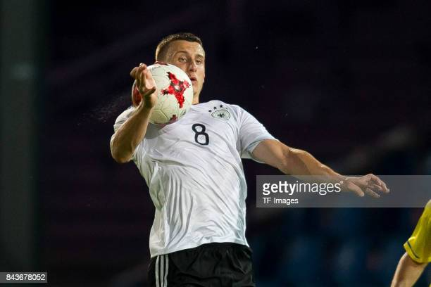 Maximilian Eggestein of Germany controls the ball during the U21 UEFA 2018 EM Qualifying match between Germany and Kosovo at the Stadion Bremer...