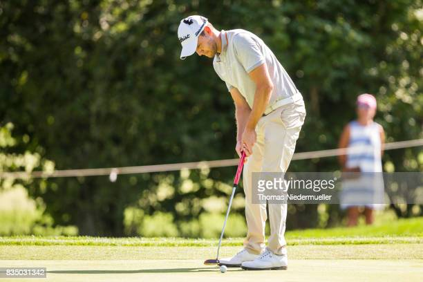 Maximilian Kiefer of Germany is seen during day two of the Saltire Energy Paul Lawrie Matchplay at Golf Resort Bad Griesbach on August 18 2017 in...