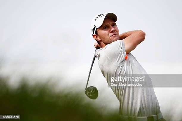 Maximilian Kieffer of germany hits his tee shot on the 1st hole during the KLM Open Final Round held at Kennemer G CC on September 13 2015 in...