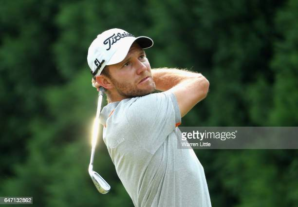 Maximilian Kieffer of Germany tees off on the fifth hole during the first round of the Tshwane Open at Pretoria Country Club on March 2 2017 in...
