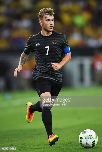 Maximilian Meyer of Germany in action during the Olympic Men's Final Football match between Brazil and Germany at Maracana Stadium on August 20 2016...