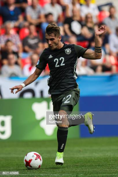 Maximilian Philipp during the UEFA European Under21 Championship Semi Final match between England and Germany at Tychy Stadium on June 27 2017 in...