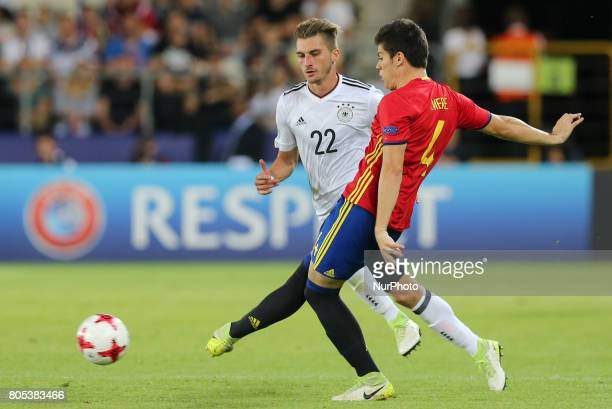 Maximilian Philipp Jorge Mere during the UEFA U21 Final match between Germany and Spain at Krakow Stadium on June 30 2017 in Krakow Poland