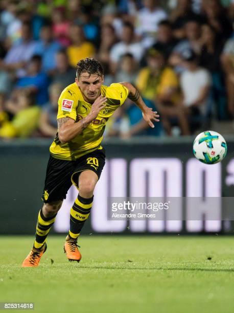 Maximilian Philipp of Borussia Dortmund in action during a friendly match between Borussia Dortmund and Atalanta Bergamo as part of the training camp...