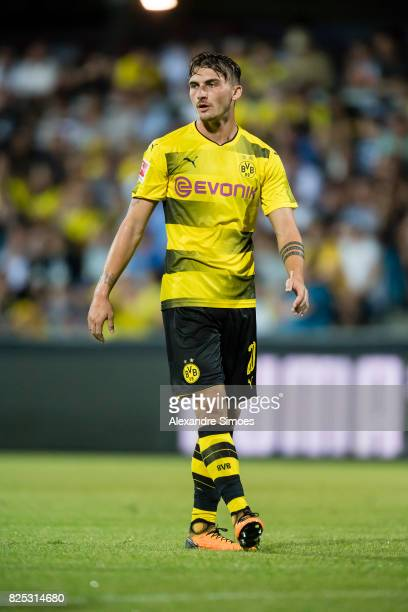 Maximilian Philipp of Borussia Dortmund in action during a friendly match between Borussia Dortmund and Atalanta Bergamo as part of the training camp...