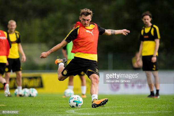 Maximilian Philipp of Borussia Dortmund in action during a training session as part of the training camp on July 31 2017 in Bad Ragaz Switzerland
