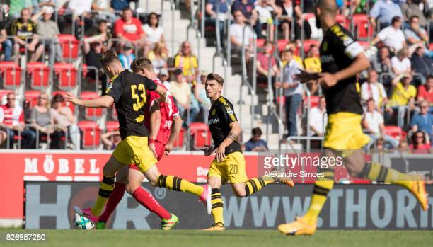 Maximilian Philipp of Borussia Dortmund in action during the preseason friendly match between RotWeiss Erfurt and Borussia Dortmund at the...