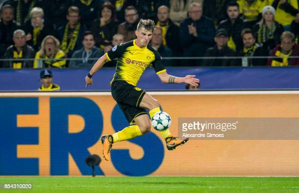 Maximilian Philipp of Borussia Dortmund in action during the UEFA Champions League First Qualifying Round 1st Leg match between Borussia Dortmund and...
