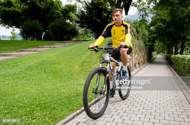 Maximilian Philipp of Borussia Dortmund on his way to the next training session as part of the training camp on July 27 2017 in Bad Ragaz Switzerland