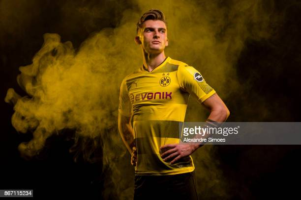 Maximilian Philipp of Borussia Dortmund poses for a portrait on October 25 2017 in Dortmund Germany