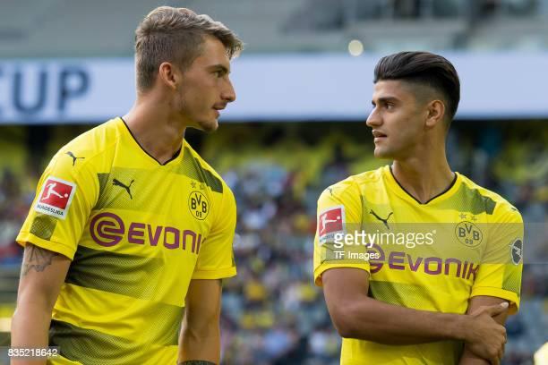 Maximilian Philipp of Dortmund and Mahmound Dahoud of Dortmund looks on during the Borussia Dortmund Season Opening 2017/18 at Signal Iduna Park on...