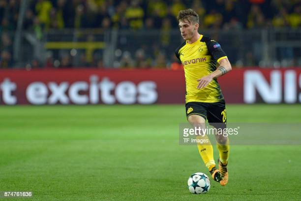 Maximilian Philipp of Dortmund controls the ball during the UEFA Champions League Group H soccer match between Borussia Dortmund and APOEL Nicosia at...