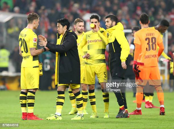 Maximilian Philipp of Dortmund Shinji Kagawa of Dortmund Marcel Schmelzer of Dortmund Marc Bartra Aregall of Dortmund Nuri Sahin of Dortmund and...