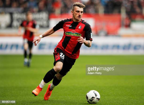 Maximilian Philipp of Freiburg in action during the Bundesliga match between FC Augsburg and SC Freiburg at WWK Arena on March 18 2017 in Augsburg...