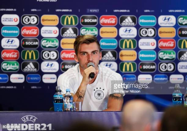 Maximilian Philipp of Germany during the Germany U21 national team press conference at Krakow Stadium on June 29 2017 in Krakow Poland