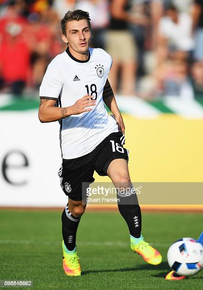Maximilian Philipp of Germany in action during the Under21 friendly match between U21 Germany and U21 Slovakia at Auestadion on September 2 2016 in...