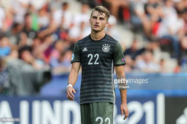 Maximilian Philipp of Germany looks on during the UEFA European Under21 Championship Semi Final match between England and Germany at Tychy Stadium on...