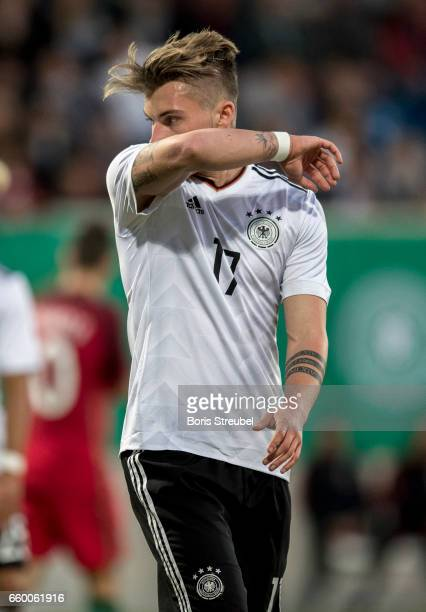 Maximilian Philipp of Germany reacts during the International Friendly match between Germany U21 and Portugal U21 at GaziStadion on March 28 2017 in...