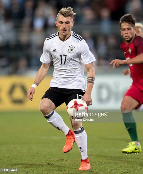 Maximilian Philipp of Germany runs with the ball during the International Friendly match between Germany U21 and Portugal U21 at GaziStadion on March...
