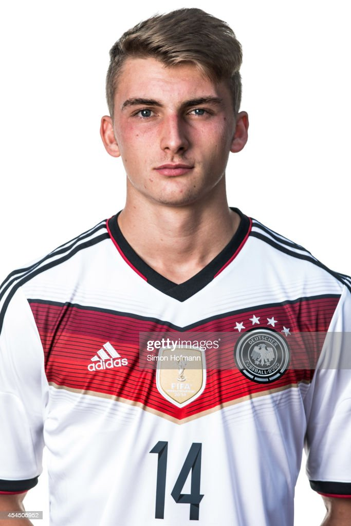 Maximilian Philipp poses during the team presentation of U20 Germany at Waldstadion on September 2, 2014 in Homburg, Germany.