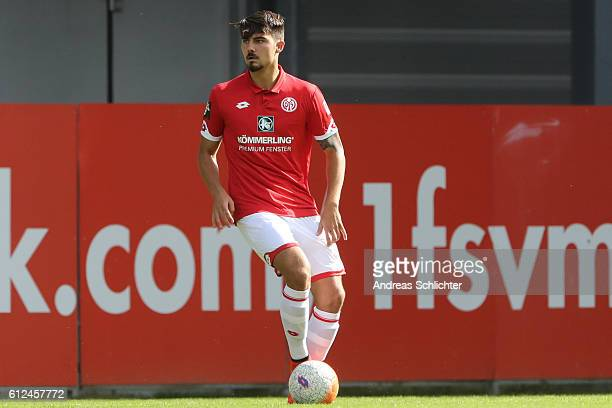 Maximilian Rossmann of FSV Mainz 05 II during the Third League match between 1FSV Mainz 05 II and RW Erfurt at Bruchweg Stadium on October 2 2016 in...