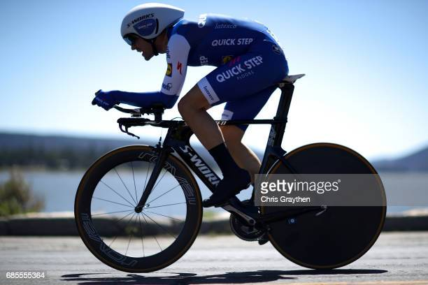 Maximilian Schachmann of Germany riding for QuickStep Floors rides during stage five of the AMGEN Tour of California from Ontario to Mt Baldy on May...