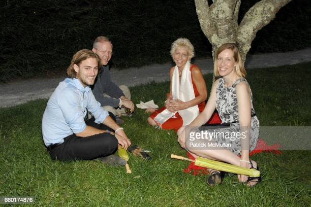Maximilian Schmidbauer Rob Wussler Lisa de Kooning and Amy Schichtel attend the Longhouse Reserve's Summer Gala at 133 Hands Creek Road on July 18...