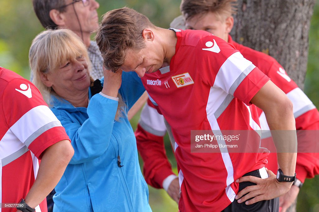 Maximilian Thiel of 1 FC Union Berlin during the lactate tests on June 27, 2016 in Berlin, Germany.