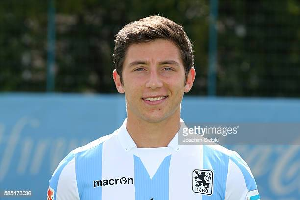 Maximilian Wittek poses during the official team presentation of TSV 1860 Muenchen at Trainingsgelaende on July 22 2016 in Munich Germany