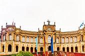 View on Maximilianeum bavarian state parliament in Autumn