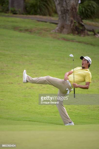 Maximiliano Godoy of Argentina misses a birdie putt on the 17th hole during the final round of the PGA TOUR Latinoamérica Flor de Cana Open at Mukul...