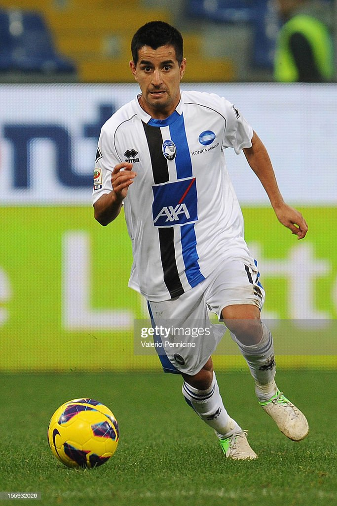 Maximiliano Moralez of Atalanta BC in action during the Serie A match between UC Sampdoria and Atalanta BC at Stadio Luigi Ferraris on November 4, 2012 in Genoa, Italy.