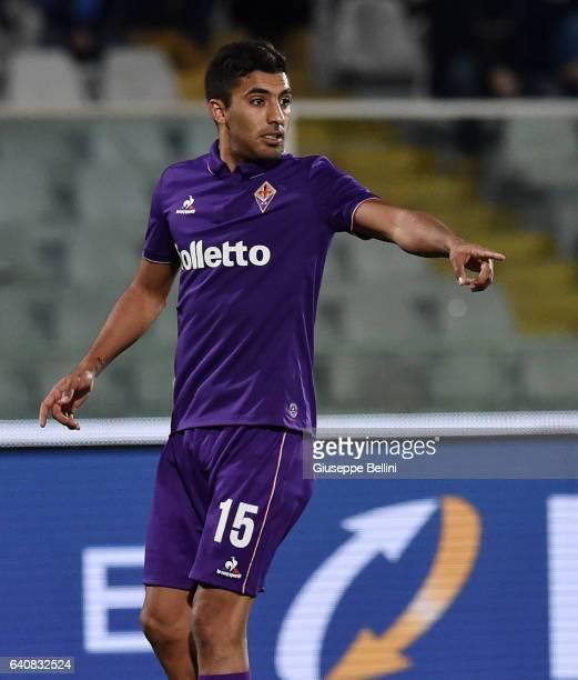 Maximiliano Olivera of ACF Fiorentina in action during the Serie A match between Pescara Calcio and ACF Fiorentina at Adriatico Stadium on February 1...