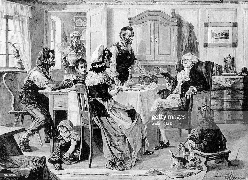 Maximilien de Robespierre, (*06.05.1758-28.07.1794+) , Jurist, Revolutionaer, Frankreich, Jakobiner, -bei der Familie Duplay