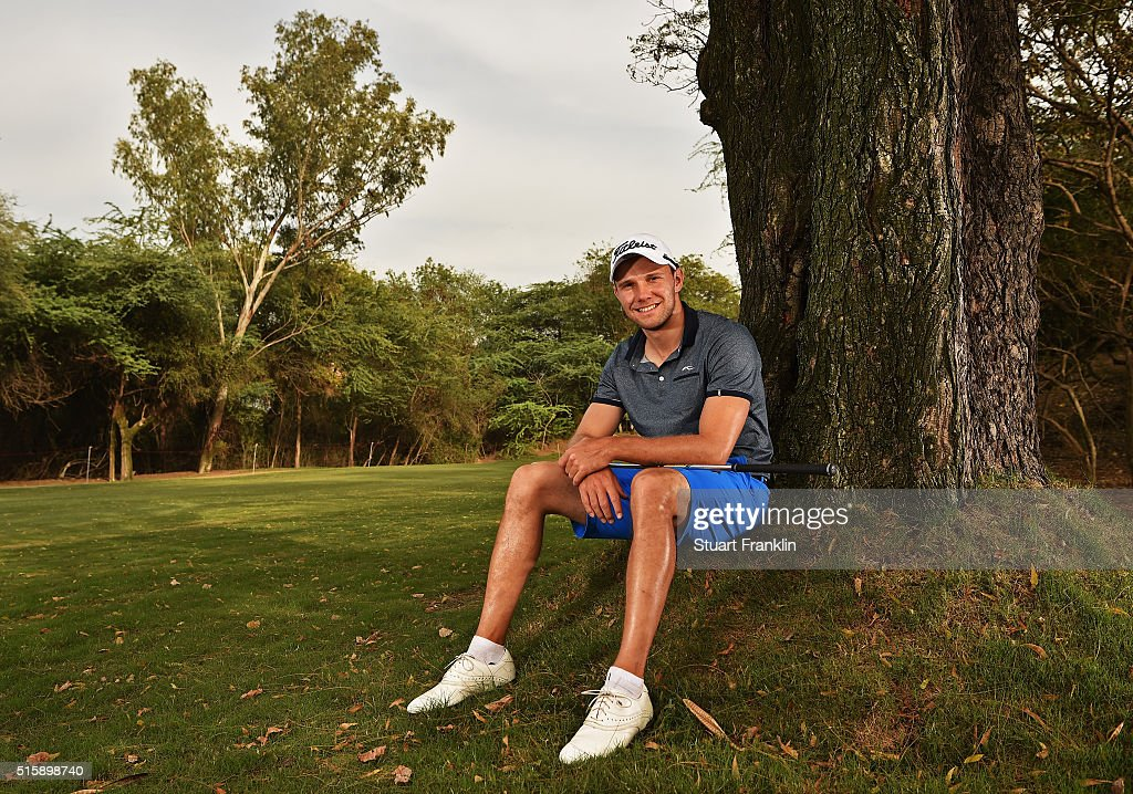 Maximillian Kieffer of Germany poses for a photograph prior to the start of the Hero Indian Open golf at Delhi Golf Club on March 16, 2016 in New Delhi, India.