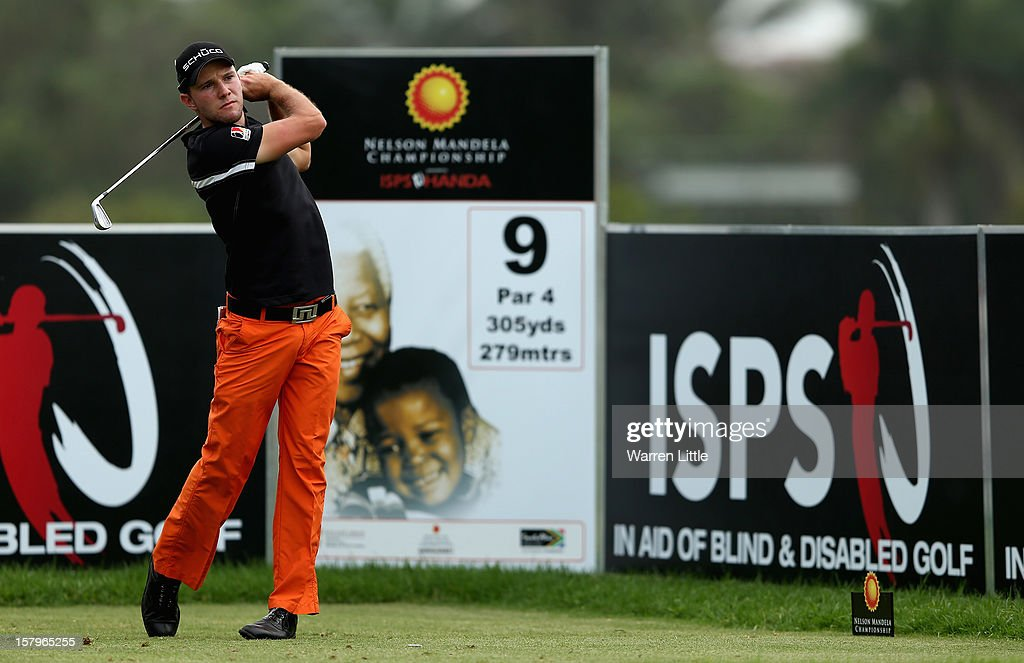 Maximillian Kieffer of Germany tees off on the ninth hole during the first round of The Nelson Mandela Championship presented by ISPS Handa at Royal Durban Golf Club on December 8, 2012 in Durban, South Africa.