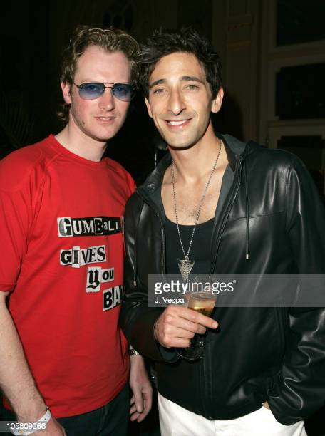 Maximillion Cooper and Adrien Brody during The Finish Of The Gumball Rally 3000 After Party at The Carlton Hotel in Cannes France